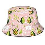136 Gorras de cubo de aguacate de dibujos animados para parejas, pescadores, para mujeres, hombres, niños, niñas, ala ancha, gorra de boonie ajustada