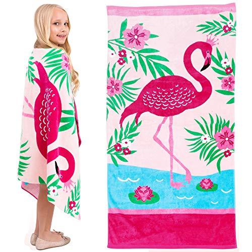 ¡Yayme! Toallas de playa ligeras de flamencos rosas para niñas, toalla de baño para niñas, divertidas toallas de playa para niños,...