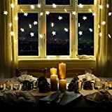Yinuo Mirror Star Curtain Light, 60 LED Window Curtain Lights Plug in with 12 Strings 8...