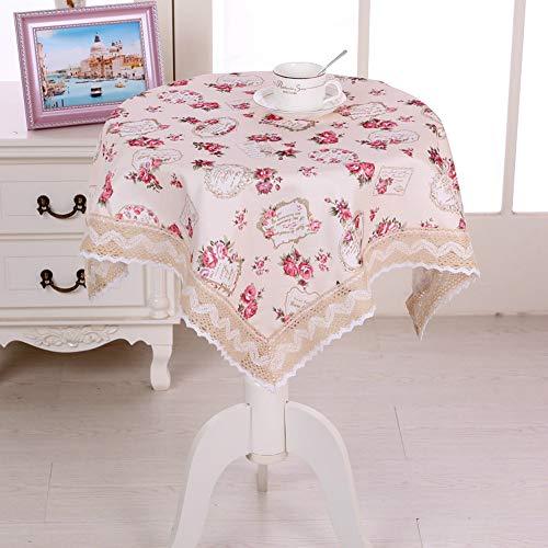 YOUYUANF Tischdeckengarten kann gewaschen Werden Dekorative quadratische Damasttischdecke rot150cm