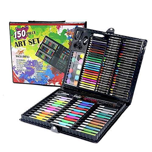 LCY Kinderzeichnung Kit Kinder Malutensilien Buntstifte Set Tools 150 PCS Kinder Aquarell Bleistift Set Zeichnung