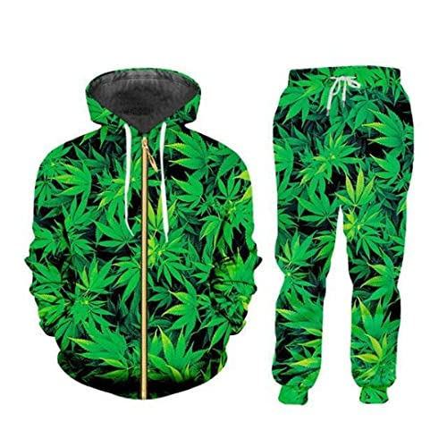 Felpa con cappuccioAutunno e inverno New 3D Digital Printing Suit Trend Fashion Sports Uomo e donna Casual -Xc5122_M