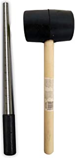 ToolUSA Deluxe Jeweler's Set of 12 Inch Ring Mandrel and Rubber Mallet