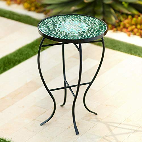 Mosaic Outdoor Accent Table, Bella Green