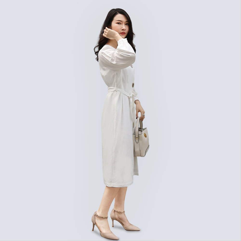 MENSDXA Kleiden 2019 Sommer Frauen Koreanische Weie Baumwolle Damen Kleid Sommer Rock