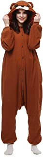 Onesie for Women Men Animal Pajamas Cosplay Adult Sleepwear Bear Costume Cartoon Outfit