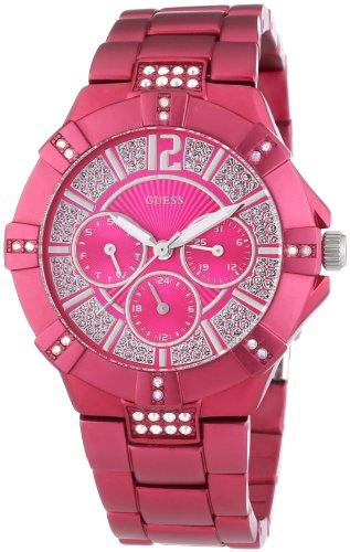 Guess W11624L4 - Reloj analógico de Cuarzo para Mujer con Correa de Aluminio, Color Morado