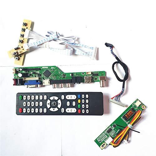 N141C3-L05/L07/L08 HDMI VGA USB AV RF Tastatur + Fernbedienung + Wechselrichter LVDS 1CCFL 30Pin LCD Panel Monitor T.V53 Drive Card Board Kit (N141C3-L07)