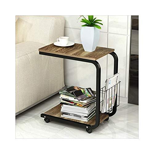 AJZXHE Table de café mobile simple table de chevet mini canapé moderne Bureau simple (Couleur : White willow color)