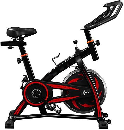 SXTYRL Cyclette, Consumo di Grassi Adatto per la casa e Lo Studio Regola Il Tubo d'Acciaio per Riparare la Bicicletta Trasmissione a Cinghia silenziosa Bicicletta Verticale