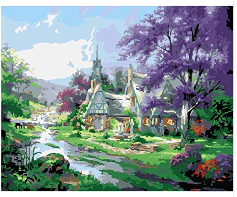 Superlucky Pastoral Landscape Wall Art Art Art Picture Painting by Numbers DIY Digital Canvas Oil Painting Home Decor Living Roon 40x50cm Mit Rahmen B07JVGSD29 | Verschiedene Waren  a37fc0