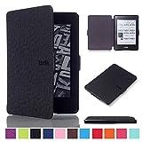Mokase Kindle - Funda de piel para Kindle Paperwhite (piel magnética, impermeable, para Amazon Kindle Paperwhite 1 2 3 (compatible con 2012, 2013, 2015, 2016 ver) con apagado automático