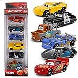 QEEN 7pcs / Set Coches 3 Pixar Juguetes Set Rayo Mcqueen Jackson Tormenta de Camiones 01:55 Pixar aleación del Coche de Metal Die Casting Regalo de Coches de Juguete (Color : A)