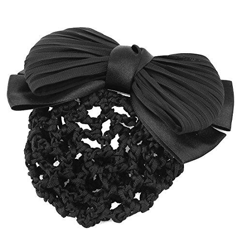 sourcingmap Mesdames deux couches noir couvercle Décor Bun Net pince cheveux Barre