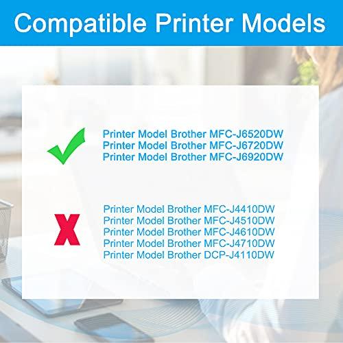 LCL LC129XL LC125XL LC129XLBK 2 Negro Cartucho de Tinta Compatible para Brother MFC-J6520DW J6720DW J6920DW