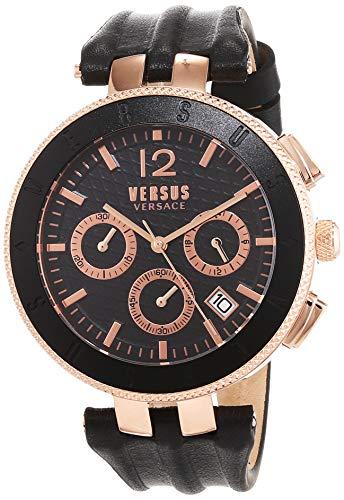 Versus by Versace Reloj Analogico para Hombre de Cuarzo con Correa en Cuero VSP762318