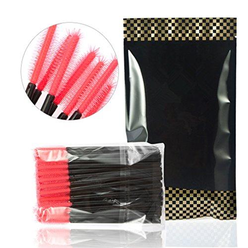 Pure Vie Lot 200 Pinceaux à cils jetables à mascara sourcils Pinceau d'huile de Ricin Outil de maquillage, 3
