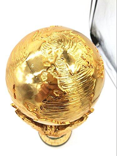 1:1 36cm World Cup Football Trophy Resin Replica Trophies Model Brazil World Cup Best Soccer Fan Souvenir Gift