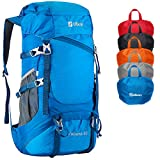 Ubon Backpacking Backpack Ultralight Hiking Daypack 40L Water Resistant Blue