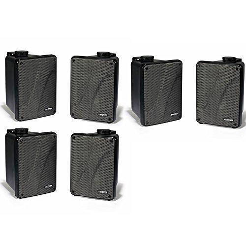 Kicker 11KB6000B Black Outdoor Speaker Bundle - 6 Speakers