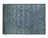 Sukhi Aadesh - Tejida a Mano: Alfombra de Lana copetudo, de la India, Azul y Verde (300cm x 400cm / 9' 10.1'' x 13' 1.4'')