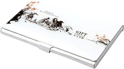 Chinoiserie Edelstahl Handelsname-Kredit-ID-Kartenhalter-Kasten,D : B�robedarf & Schreibwaren