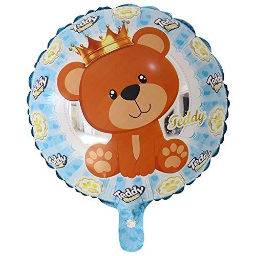 DIWULI, süßer Teddybär Luftballon, Baby Boy Ballon, Folien-Ballon blau für Jungen, Baby-Ballon, Kinder-ballon, Folien-Luftballon Bär Babyparty, Geburt, Kindergeburtstag, Geburtstag, Geschenk-Deko, DIY