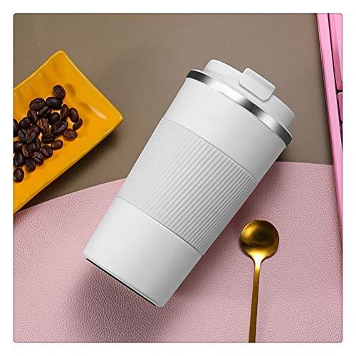 Aiglen Taza Termo, 380 ml / 510 ml Taza de café portátil de Acero Inoxidable 304 con Estuche Antideslizante Taza Termo Taza térmica de Viaje Taza Termo (Color : E, Size : 510ml)