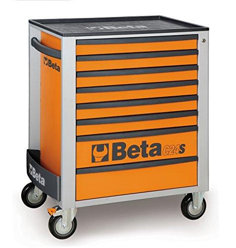Beta C24S 8/O Mobiler Werkstattwagen/Rollwagen mit 8 Schubladen, Orange
