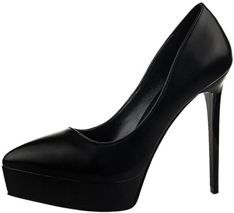 FUN.S Women's Platform Party Dress Classic Sky High Heel Stiletto Pump shoes
