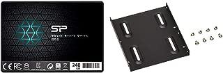 シリコンパワー SSD 240GB TLC採用 SATA3 6Gb/s  2.5インチ 7mm  3年保証 S55シリーズ  SP240GBSS3S55S25AC & オウルテック 2.5インチHDD/SSD用→3.5インチサイズ変換ブラケット ネジセット付き ブラック OWL-BRKT04(B)