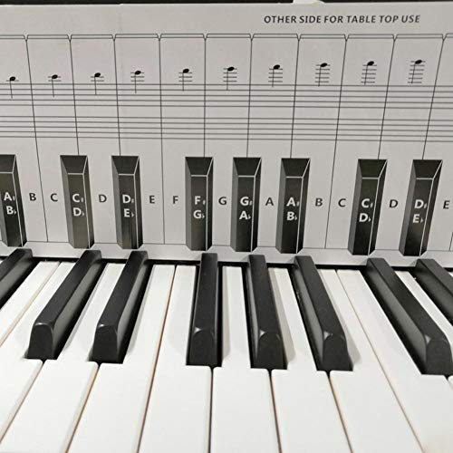 Klavier Notentabelle, Klavierakkordtabelle Für Hinter Den Tasten, 88 Tasten Piano Practice Keyboard Note Chart Piano Lernhilfeset Für Hinter Den Klaviertasten