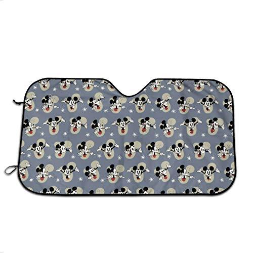 YQLDFB Parasol para Parabrisas de Coche con diseño de Mickey Mouse, protección contra Rayos UV, Mantiene el vehículo Fresco