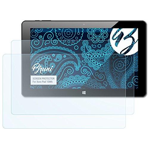 Bruni Schutzfolie kompatibel mit Xoro Pad 10W6 Folie, glasklare Bildschirmschutzfolie (2X)