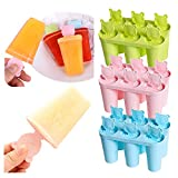 Silikon Eisformen Form,Süßigkeiten Formen,DIY Eiscream mit Deckel,Eiskaffee Eismaschine Set,BPA Frei,Kinder Baby DIY Eisförmchen für Schokolade,Fruchtsaft,Joghurt,Püree,Eiskaffee,Halloween-1/3PC