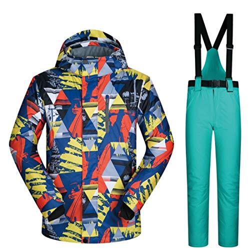 BERYLSHOP Herren Skijacke und Hosen Schneeanzug Descente Skijacke Herren (M-XXXL) (Farbe : 04, Size : XXXL)