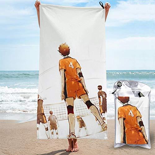 Toalla de secado rápido Haikyu!! Toalla de microfibra absorbente ligera portátil para acampar/deportes/viajes/fitness 31.5' x 63'