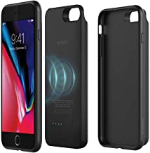 [Red Dot Design Award Winner 2018] iPhone 8 Plus Battery Case with Qi Wireless Charging, ROMOSS 5000mAh Slim 2in1 Magnetic Rechargeable Extended Protective Charging Case Compatible iPhone 8 Plus-Black