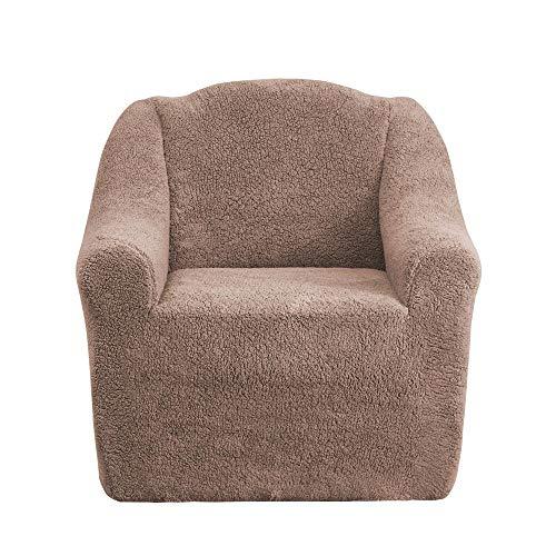 Mixibaby Sofabezug Sofahusse Sesselbezug Sitzbezug Sesselüberwurf Husse 1er Sofa Wellsoft, Farbe:nogat