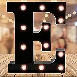 Oycbuzo Light up Letters LED Letter Black Alphabet Letter Night Lights for Home Bar Festival Birthday Party Wedding Decorative (Black Letter E)