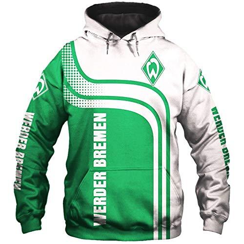 xiaosu Männer Hoodies Jacke Zum Sv-Werder-Bremen 3D Drucken Fußball-Verein-Fan Pullover/Zip Sweatshirts Tops Sport / A1 / L