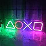 Icona Playstation Insegna al neon Icona a Led Luce al neon Playstation Decorazione da parete Luce con interruttore On/Off Luce USB per camera Bar Sala giochi Festa di compleanno