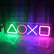 Playstation Icon Neon Sign Led Icon Neon Light Playstation Wall Decor Light with On/Off Switch USB L...