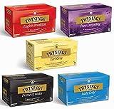 Twinings Schwarztee 5er Mix - 5 x 25 Teebeutel - English Breakfast, Earl Grey, Pure Darjeeling, Lady...