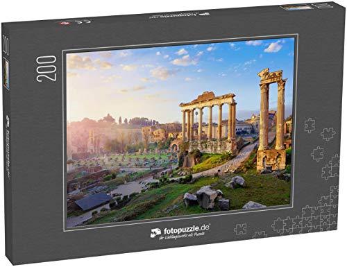 Puzzle 200 Teile Römisches Forum in Rom, Italien Antike Strukturen mit Säulen - Klassische Puzzle, 1000/200/2000 Teile, in edler Motiv-Schachtel, Fotopuzzle-Kollektion 'Italien'