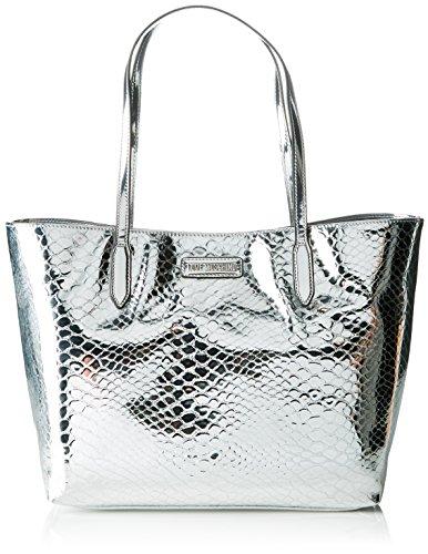 Love Moschino - Moschino, Bolsos totes Mujer, Silber (Silver), 14x27x46 cm (B...