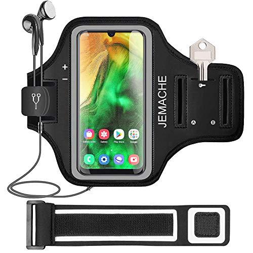 Galaxy A51 A50 A31 Fascia Da Braccio Portacellulare, JEMACHE Palestra Esercizi Porta Telefono Cellulare da Corsa per Samsung Galaxy A51 A50 A31 (Nero)