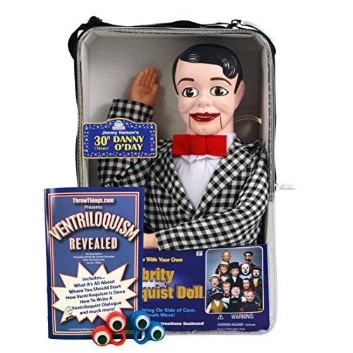 ThrowThings.com Bonus Bundle! Danny O'Day Ventriloquist Dummy Doll PLUS Ventriloquism Revealed Booklet PLUS
