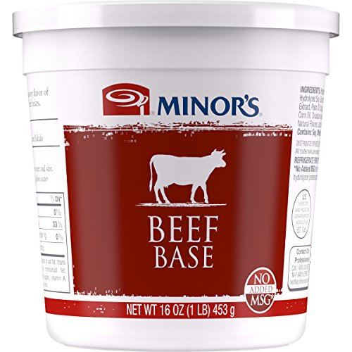 Minor's Beef Base and Stock, Great for Soups and Sauces, 0 Grams Trans Fat, No Added MSG, 16 oz