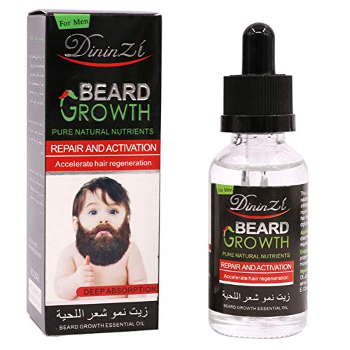 Hair Beard Growth Oil Biotin The Best Solution to Beard - Pure Natural Plant Nutrient, Man Beard Oil Essence Conditioners Mustache Nourishing Moisturizing Serum, Accelerate Hair Regeneration (40ml)